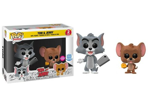 Figurine Funko Pop! 2 - Tom et Jerry - Tom et Jerry floqués
