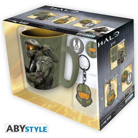 Coffret Halo - Mug - Porte-clés - Badges Halo