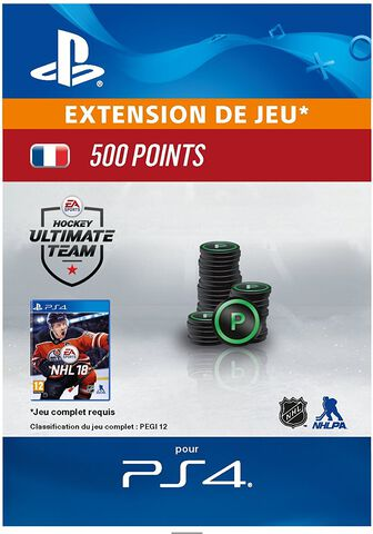 Dlc Nhl 2018 - Ultimate Team Nhl 500 Points Ps4
