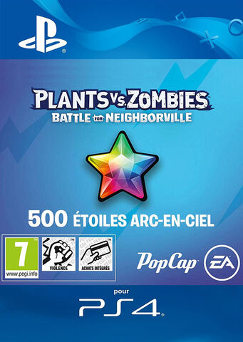 Plants Vs Zombies Battle For Neighborville - Dlc - 500 Points étoiles Arc-en-cie
