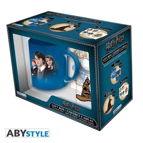 Coffret - Harry Potter - Mug 320 ml V2 + Porte-clés PVC + Sticker Harry Potter