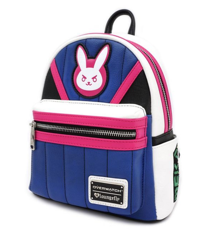 Mini sac à dos Loungefly - Overwatch - D.va Rose et Bleu
