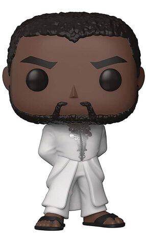 Figurine Funko Pop! N°352 - Black Panther - Bobble Robe T'challa (blanc)