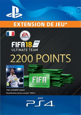FIFA 18 Ultimate Team 2 200 Pts Ps4