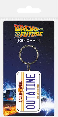 Porte-clés - Retour vers le futur - Plaque Outatime