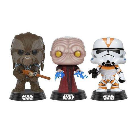 Figurine Funko Pop! - Star Wars - Tarfful, Unhooded Emperor, Utapau Clone Trooper Ltd