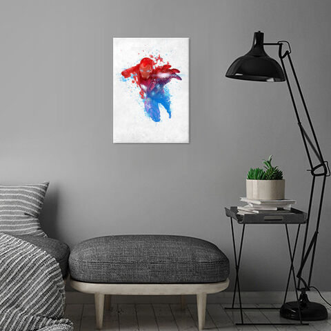 Poster Métallique - Iron Man - Rouge, Blanc et Bleu