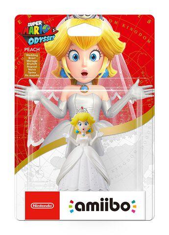 Figurine Amiibo Super Mario Peach Tenue De Mariage