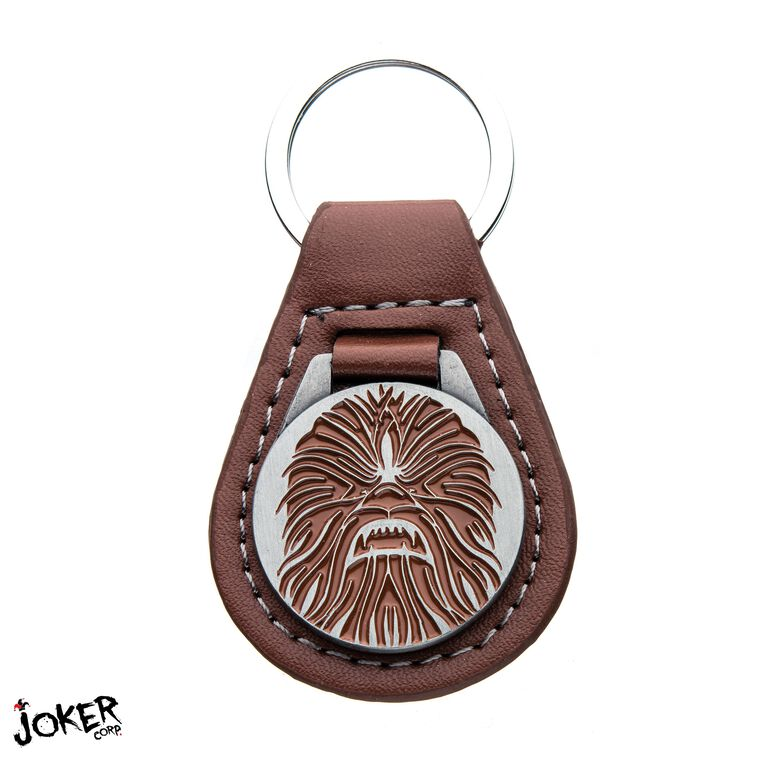 Porte-clés - Star Wars - Médaille Chewbacca en cuir et métal