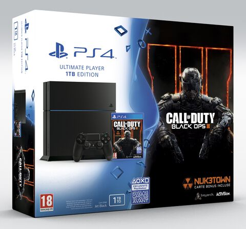 Pack PS4 1To Jet Black + Call Of Duty : Black Ops III