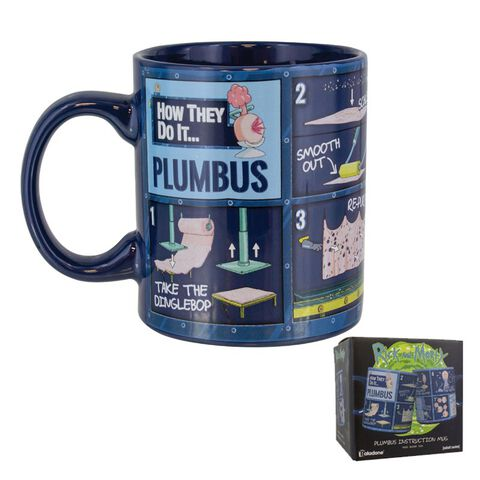 Mug - Rick et Morty - Avec Instructions Plumbus