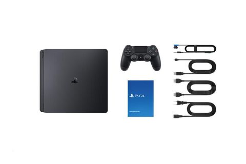 Pack Ps4 Slim 1to Noire + Cod Ww II + Qui Es-tu? (voucher)