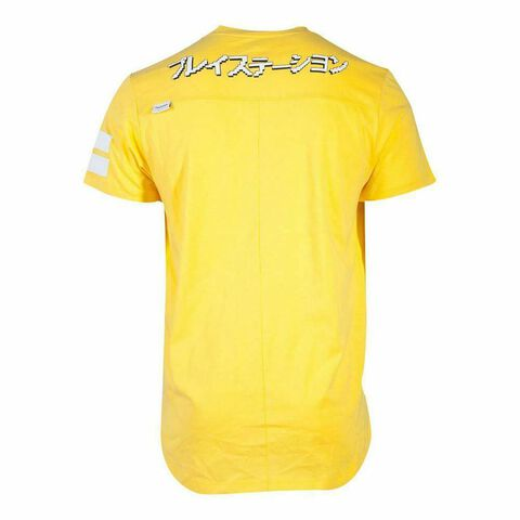 T-shirt - Playstation - Icones Sur Fond Jaune - Taille S