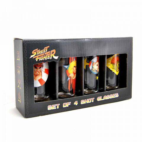 Verre - Street Fighter - Set de 4 mini personnages