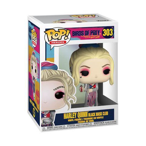 Figurine Funko Pop! N°303 - Birds Of Prey - Harley Quinn Black Mask Club