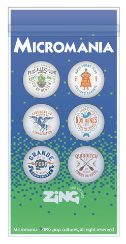 Set de 6 badges - Micromania-Zing