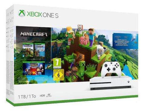 Pack Xbox One S 1to Blanche + Minecraft Creators