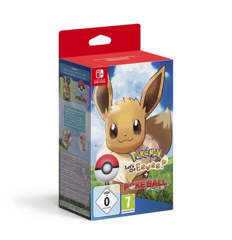Pokemon Let's Go Evoli + Poke Ball Plus