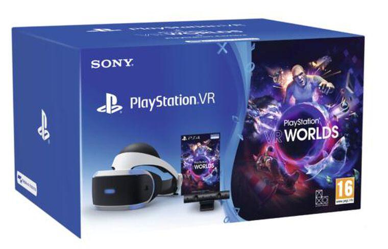 Casque Playstation Vr+camera V2+vr Worlds (voucher)