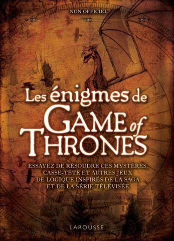 Livre - Les Énigmes de Game of Thrones