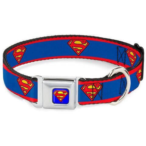 Collier pour chien - DC Comics - Superman Taille M 28/43 cm - 2,5 cm