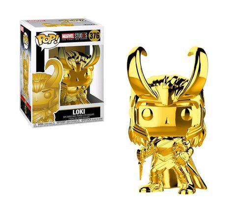 Figurine Funko Pop! N°376 - Marvel Studios 10 - Loki (chrome)