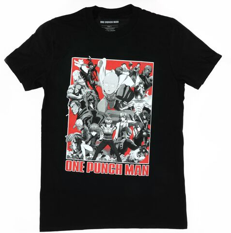 T-shirt Homme - One Punch Man - Rouge/blanc/noir Group - Taille M