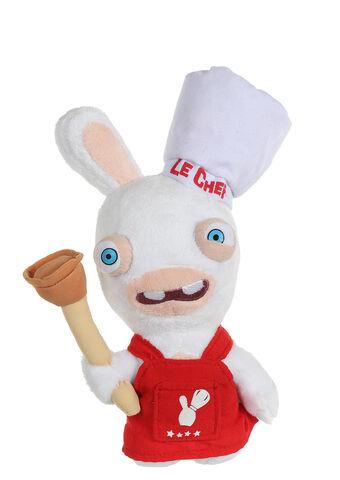 Peluche Lapin Cretin Chef Cuisinier Sonore