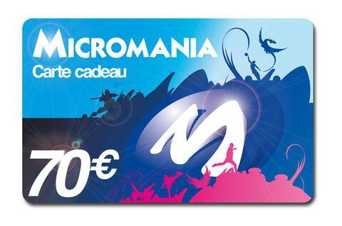 Carte Cadeau Micromania 70 euros