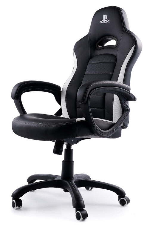 Chaise Gaming Officiel Sony Pcch350 Blanc & Noir
