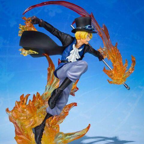 Statuette Figuarts Zero - One Piece - Sabo poing de flammes 19 cm