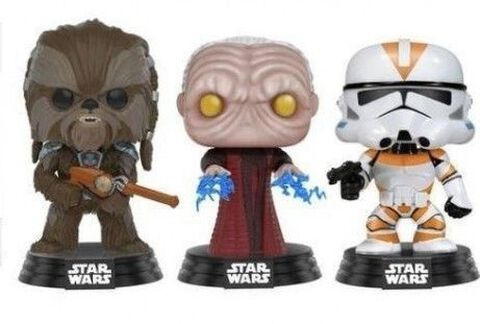 Figurine Funko Pop! - Star Wars - 3-pack Tarfful Unhooded Emperor Utapau Clone