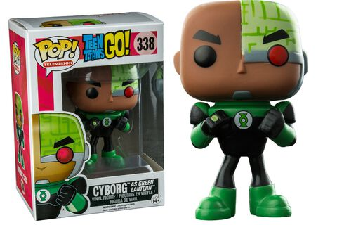 Figurine Funko Pop! N°338 - Teen Titans Go ! - Cyborg As Green Lantern
