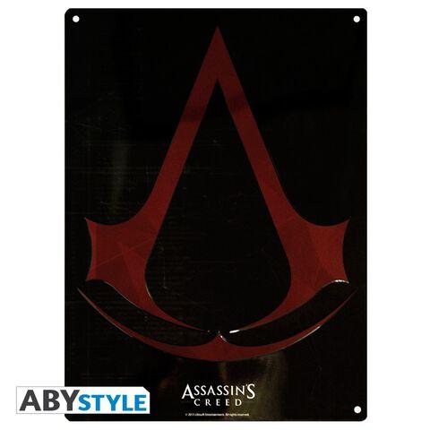 Plaque métal - Assassin's Creed - Crest (28x38)