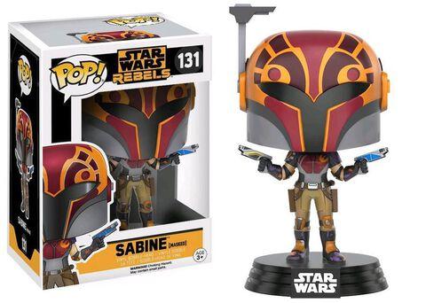 Figurine Funko Pop! N°131 - Star Wars Rebels - Sabine avec masque