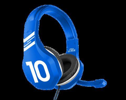 Casque Gaming Pro League Football Bleu