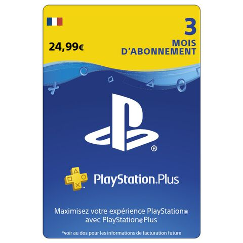 Playstation Plus 3 Mois Ps4 - Ps3 - Ps Vita