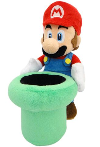 Peluche - Nintendo - Mario Avec Tuyau 25 Cm