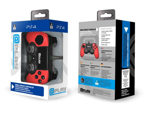 @play Manette Filaire Rouge Ps4 Officielle Sony