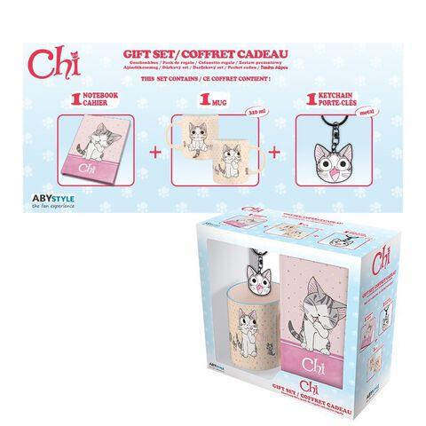 Coffret - Chi - Mug 320 ml + Porte-clés + Cahier Chi