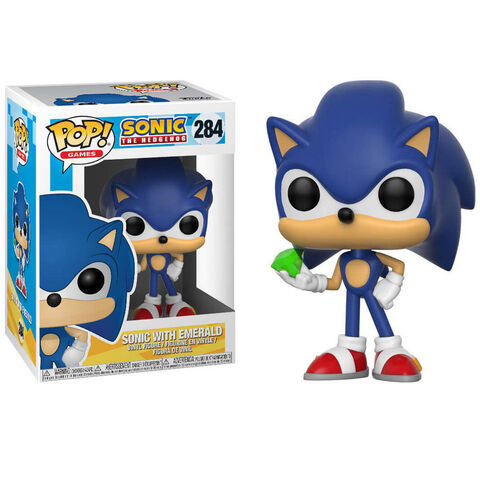 Figurine Toy Pop N°284 - Sonic - Sonic avec Émeraude