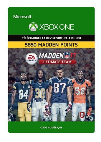 DLC - Madden NFL 17 - Pack de 5850 points Madden Ultimate Team - Xbox One