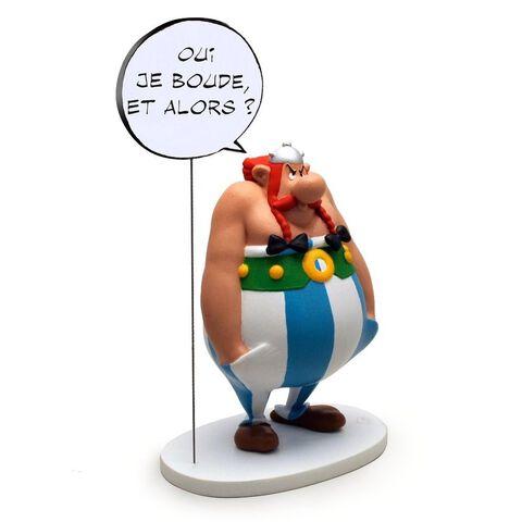 Figurine Bulles  - Asterix - Obelix - Oui je boude, et alors ?