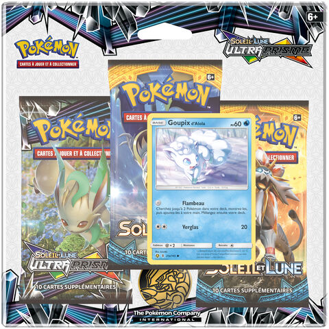 Cartes - Pokemon - Pack 3 Boosters - Soleil & Lune Ultra Prisme