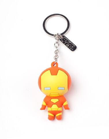 Porte-clés - Marvel - Iron Man 3D - En caoutchouc