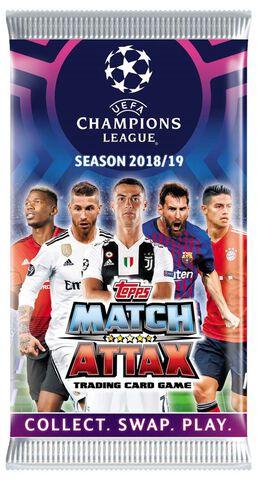 Cartes Match Attax - UEFA Champions League - Blister de 5 boosters 2018-2019