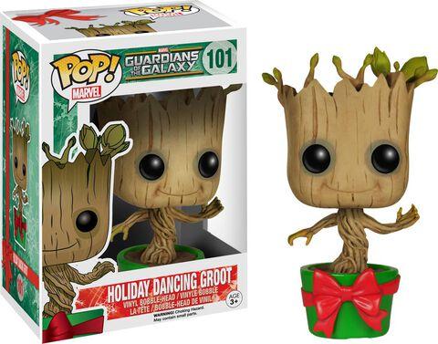 Figurine Funko Pop! N°101 - Les Gardiens De La Galaxie - Holiday Dancing Groot