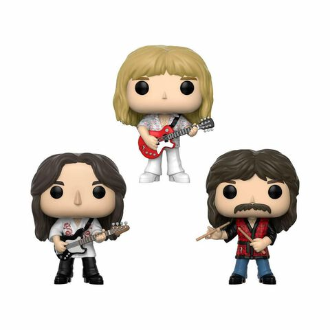 Figurine Funko Pop! - Rocks - 3-pack Geddy, Alex, Neil