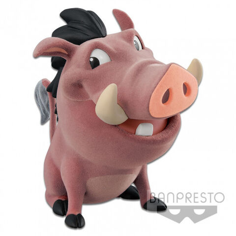 Figurine Disney Character Cutte Fluffy Puffy - Le Roi Lion - Pumbaa