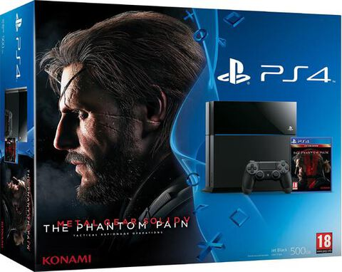 Pack Ps4 500 Go Noire + Metal Gear Solid V